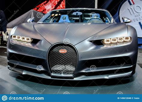 Just the same unit has been recently spotted in new york. Bugatti Chiron sport editorial stock photo. Image of powerful - 145612048