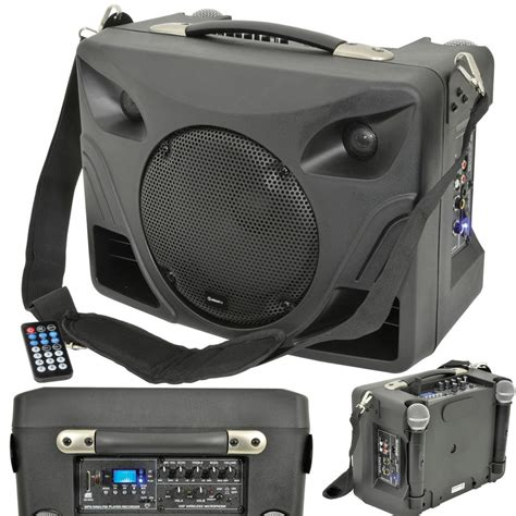 50w portable outdoor pa speaker system mobile wireless
