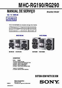 Sony Mhc-rg190  Mhc-rg290 Service Manual