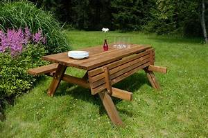 Table Bois Pique Nique : table de pique nique en bois 177 cm oogarden ~ Melissatoandfro.com Idées de Décoration