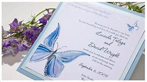 wedding invitation blue reference for wedding decoration With blue butterfly wedding invitations templates
