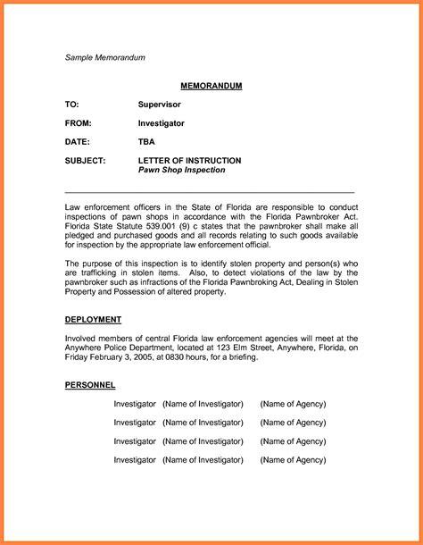 Memorandum Template 7 Sle Memorandum Marital Settlements Information