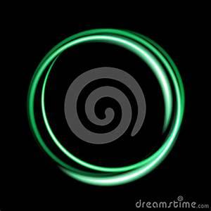 Green Neon Circle Background Stock Illustration Image