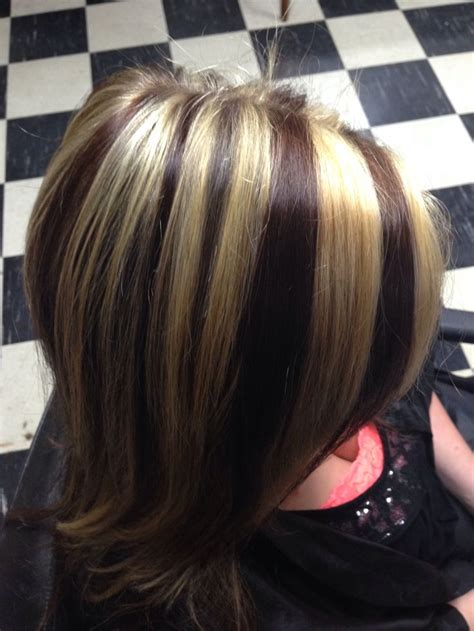 Highlights And Brown Lowlights Hairstyles by Chunky Highlights And Lowlights For Brown Hair