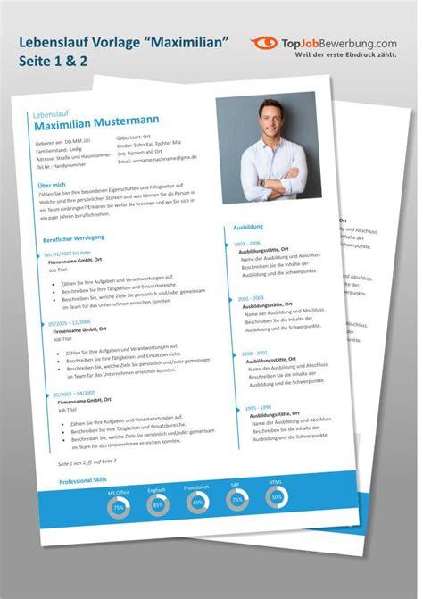 Lebenslauf Design by Ansicht Der Lebenslauf Design Vorlage Quot Maximilian Quot Mit