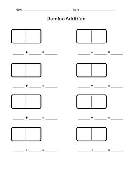 Domino Addition And Subtraction By Cruzin' Through School Tpt