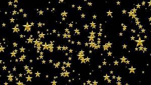 Golden Stars Black Background - YouTube