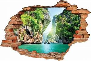 Image Trompe L Oeil : stickers trompe l 39 oeil 3d cascade 3 pas cher ~ Melissatoandfro.com Idées de Décoration