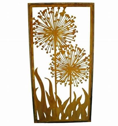 Edelrost Sichtschutz Metallmichl Paravent Allium Breite 100cm