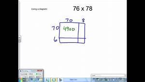 Grade 5 Using A Diagram  Array  For Multiplication