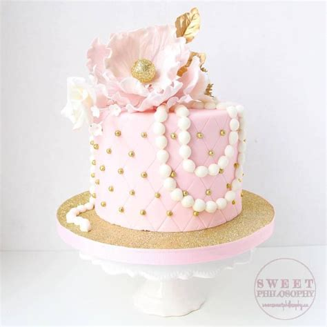 1000 ideas about pink gold cake on birthdays