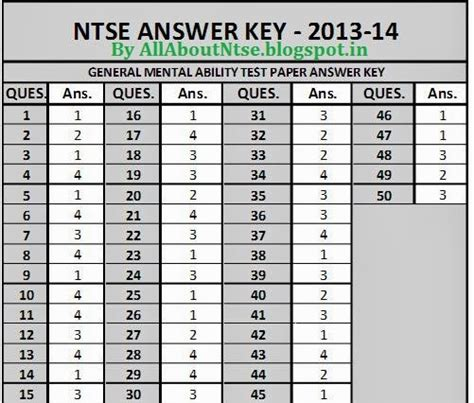 english 2 released form answer key ntse 2013 14 maharashtra answer keys first stage 17th