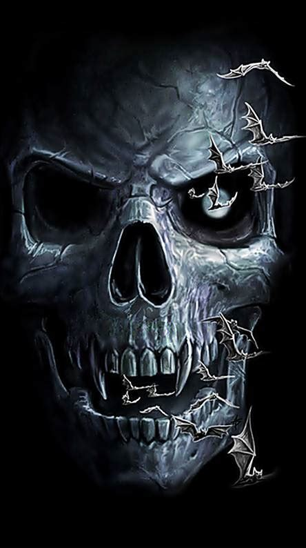 Black Skulls 3d Wallpapers by 3d Skull Wallpapers Free By Zedge
