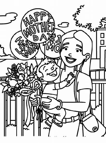 Coloring Pages Mothers Mom Happy Mother Crayola