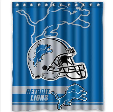 shipping    detroit lions custom shower curtain home decor waterproof fabric fashion