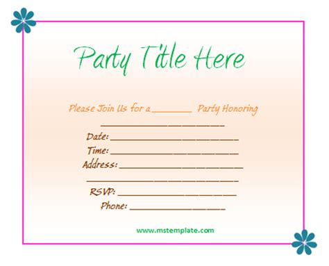 Free Party Invitation Templates Word Training Certificate Template 2010 Apa For Tickets Business Card Templates Free Resume 2015 Report Remove Blank Page Avery 5160
