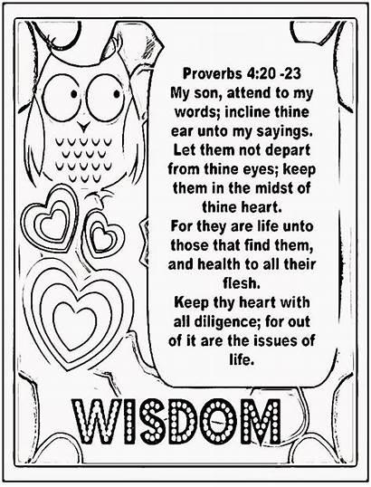 Proverbs Coloring Treasure Wisdom Sheet Children Gems