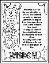 Proverbs Coloring Lessons Wisdom Pages Sheets Sheet Box Children Treasure Template Gems January sketch template