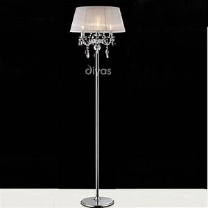 diyas uk olivia il il30063 wh polished chrome crystal With 3 light crystal floor lamp