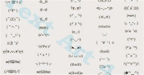 list   kawaii text faces  chat messages cool