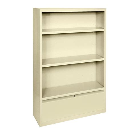 Steel Bookcase by Sandusky Putty Storage Steel Bookcase Bd20361852 07 The