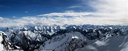 Monitor Dual Mountains Alps Wallpapers 2560 1024