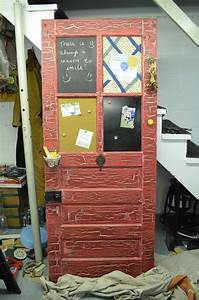 Repurpose, An, Old, Door, Into, A, Memo, Board, I, Made, Each, Window, A, Different, Form, Of, Memo, Method
