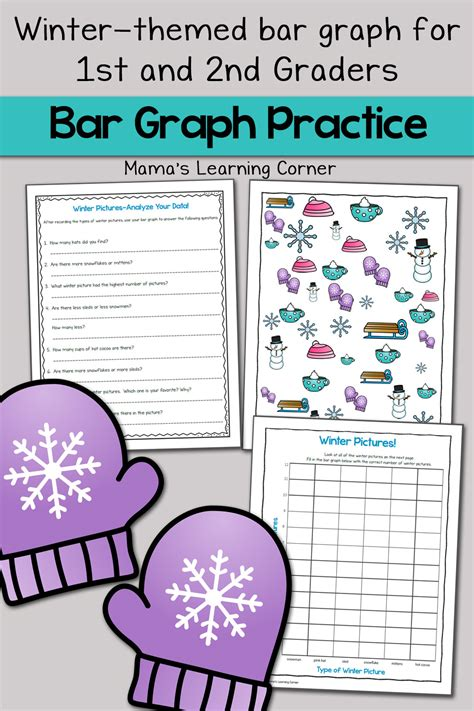 winter bar graph worksheets mamas learning corner