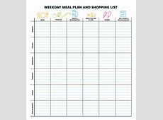 Meal Planning Template 17+Download Free Documents in PDF