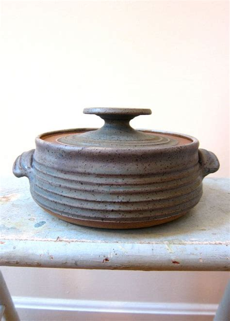 39 s pottery casserole signed pottery casserole midcentury vintage