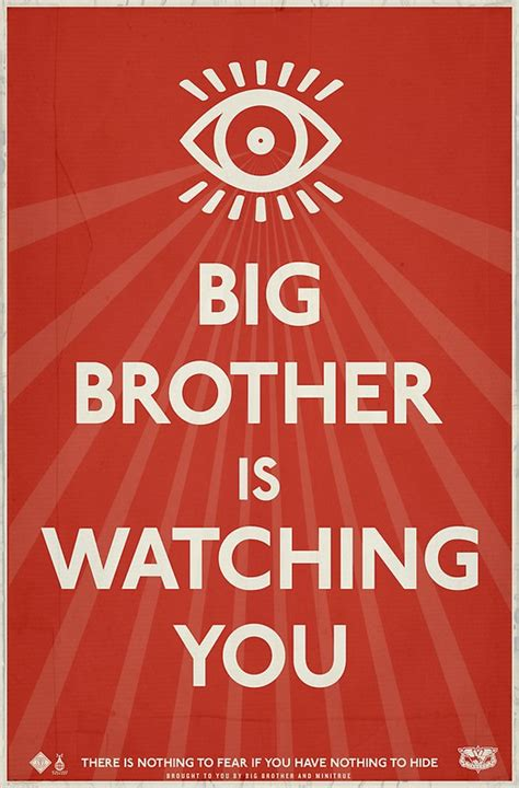 Big Brother Is Watching You Propaganda Posters By
