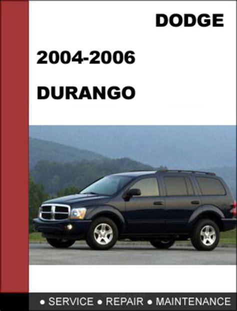 car manuals free online 2006 dodge durango electronic toll collection dodge durango 2004 2006 factory service repair manual download