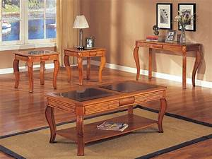 wonderful coffee and end table set for living room 3 With oak end tables and coffee table sets