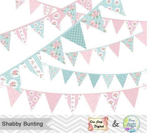 shabby chic clip digital bunting banner clip art shabby chic by onestopdigital