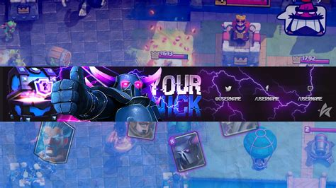 Banner Template De Clash Royale by Free Clash Royal Banner Template Youtube