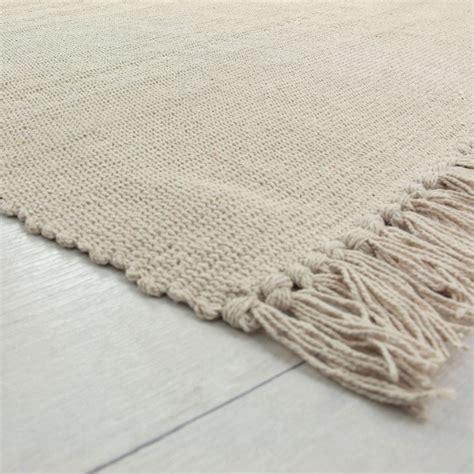 petit tapis cuisine 100 coton 201 cru 60x120cm