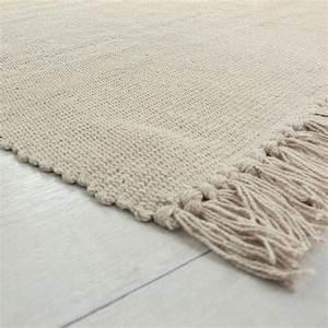 Tapis Beige Pas Cher : petit tapis cuisine 100 coton cru 60x120cm ~ Teatrodelosmanantiales.com Idées de Décoration