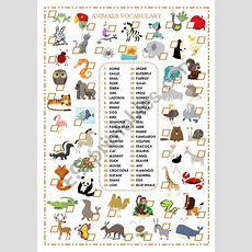 English Worksheets Animals