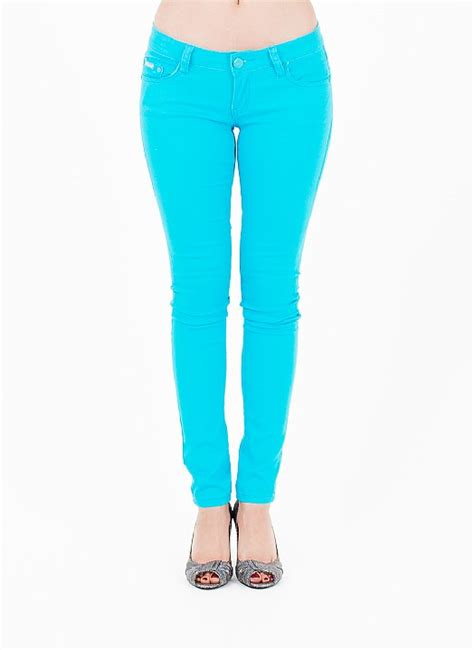 turquoise skinny jeans womens colored jeans jeans color