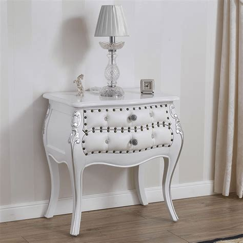 bedside table rounded brilliant modern baroque style