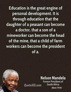 Nelson Mandella... Education Development Quotes