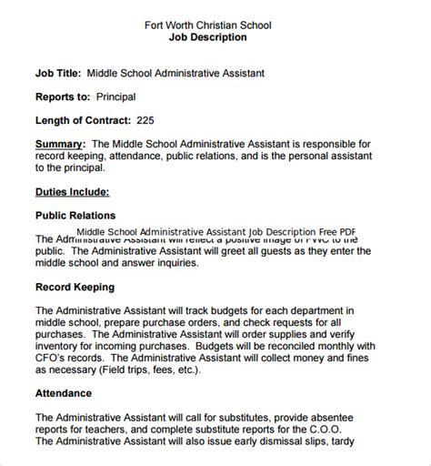 executive assistant description