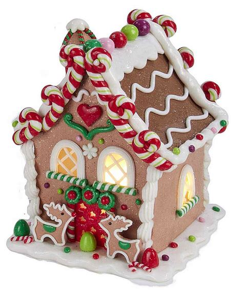 Christmas Decorations  Led Lighted Gingerbread House W