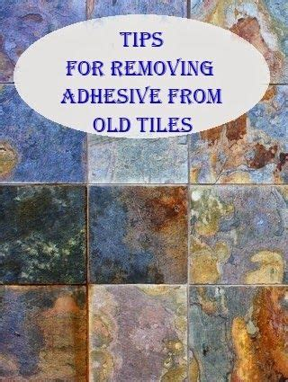tips for removing adhesive from tiles repurpose