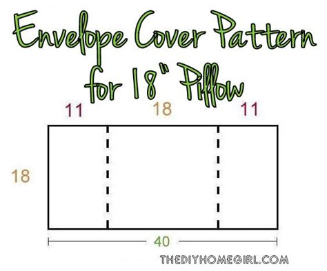 how to a pin cusion easy envelope back pillow cover pattern tutorial the