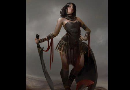Spartan Woman - Fantasy & Abstract Background Wallpapers ...