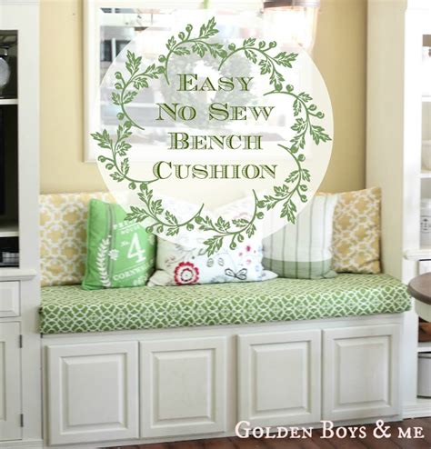 how to make a bench cushion golden boys and me no sew bench cushion