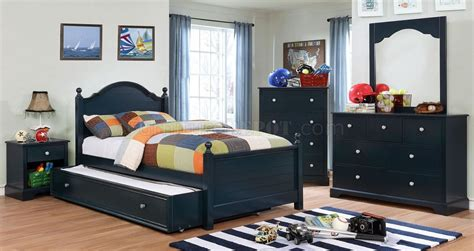 diane pc youth bedroom set cmbl  navy blue woptions