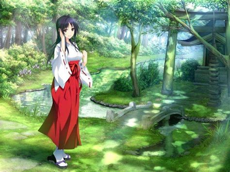Anime Nature Wallpaper - anime kimono nature wallpapers hd desktop and