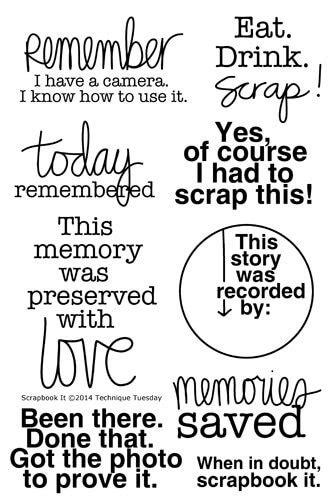 scrapbook  stamp set clear stamps technique tuesday